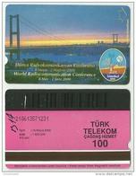 TRF01008 Turkey Turk Telekom Phonecard World Radiocommunication Conference Istanbul 2000 / 100 Unit / Used - Türkei