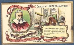 Chromo Chocolat Guerin-Boutron Les Bienfaiteurs De L'Humanité - GALILEE Italien Italie Astronome Astronomie - Guerin Boutron
