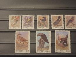 ZAMBIA - 1990 UCCELLI 8 VALORI - NUOVI(++) - Zambia (1965-...)