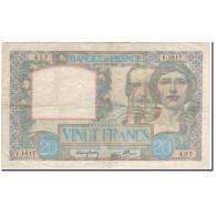 France, 20 Francs, Science Et Travail, 1940-10-17, TTB, Fayette:12.9, KM:92b - 1871-1952 Antichi Franchi Circolanti Nel XX Secolo