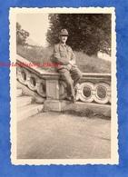 Photo Ancienne D'un Soldat Allemand - France ? - Portrait D'un Militaire , Régiment à Identifier , Voir Patch - WW2 1940 - Guerre, Militaire