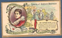 Chromo Chocolat Guerin-Boutron Les Bienfaiteurs De L'Humanité - FURTADO HEINE Sanatorium Nice Soldats Croix Rouge Soldat - Guérin-Boutron