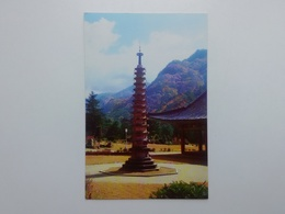 The Stone Pagoda Of The Temple Pohan At Mount Myohyang  North Korea. Pja9-8 - Korea, North