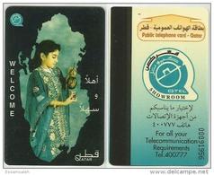 QAF01001 Qatar QTEL Phonecard Welcome 20 QR / Used - Qatar