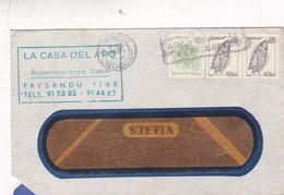 LA CASA DEL ARO - COMMERCIAL ENVELOPE CIRCULEE 1971 STAMP A PAIR BANDELETA PARLANTE URUGUAY - BLEUP - Uruguay
