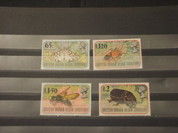 BRITISH OCEAN - 1976 INSETTI 4 VALORI - NUOVI(++) - Stamps