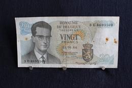 2 / Belgique /  Royaume De Belgique - 20 Francs, Type Roi Bauduin I - 15.06.1964 / 3 U 8693509 - Otros