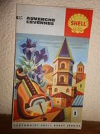 Vintage :cartoguide SHELL  BERRE  N° 10  /1964/1965   / AUVERGNE CEVENNES - Roadmaps