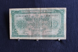 4 / Belgique / Royaume De Belgique -  Dix Francs Ou Deux Belgas - Tien Frank Of Twee Belgas - 01.02.1943 / EL 81 55 31 - [ 2] 1831-... : Royaume De Belgique