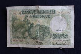 5 / Belgique / Royaume De Belgique - 50 Francs Ou 10 Belgas - 50 Frank Of 10 Belgas - 22.12.1944 / 5878 U 0860 - [ 2] 1831-... : Royaume De Belgique