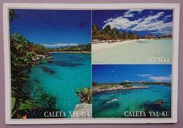 AKUMAL - CALETA XEL-HA - CALETA YAL-KU - Mexico - Playa, Beach, Spiaggia -  Vg - Messico