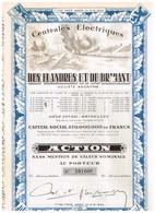 Ancien Titre- Centrales Electriques Des Flandres Et Du Brabant -Titre De 1948 - Electricité & Gaz