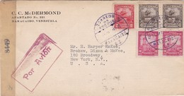 CC MC DERMOND - COMMERCIAL ENVELOPE CIRCULEE 1945 VENEZUELA TO USA OPENED BY CENSOR - BLEUP - Venezuela