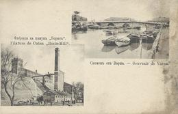 "BULGARIE 1920  VARNA Filature De Coton ""Boris-Mill"" Souvenir De Varna CPA  Voir Scan - Bulgarie"