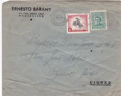 ERNESTO BARANY - COMMERCIAL ENVELOPE CIRCULEE 1959 URUGUAY TO ARGENTINE - BLEUP - Uruguay