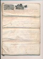 Cahier De 20 Pages Parchemin  Acte Notarié An 1686 ? Je Pense à Vérifier à Identifier Parroisse De Belleville Sur Loire - Documentos Históricos