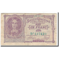 Billet, Belgique, 1 Franc, 1923-10-18, KM:86b, TB+ - [ 3] Occupazioni Tedesche Del Belgio