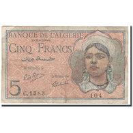 Billet, Algeria, 5 Francs, 1944-10-02, KM:94b, TB+ - Algeria