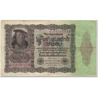 Billet, Allemagne, 50,000 Mark, 1922, 1922-11-19, KM:80, TB - [ 3] 1918-1933 : Weimar Republic