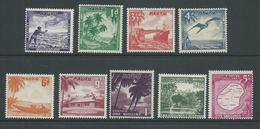 Nauru 1954 Definitive Set 9 MNH , Several With Small Gum Knocks - Nauru