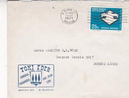 TOKI EDER LIBRERIA CIGARRERIA- COMMERCIAL ENVELOPE CIRCULEE 1971 BAHIA BLANCA A BUENOS AIRES - BLEUP - Argentina