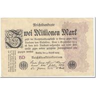 Billet, Allemagne, 2 Millionen Mark, 1923, 1923-08-09, KM:104b, TTB - [ 3] 1918-1933 : República De Weimar
