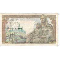 France, 1000 Francs, Déesse Déméter, 1943-01-07, TB, Fayette:40.1, KM:102 - 1871-1952 Circulated During XXth