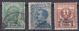 ITALIA - Ufficio Di Scutari D'Albania - 1909 - Lotto Di 3 Valori Usati: Unificato 1, 4 E 9. - 11. Foreign Offices