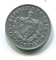 1968 Cuba Aluminum 5 Centavos Coin - Cuba