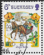 Guernsey SG392 1986 Christmas 6p Good/fine Used [39/32287/25D] - Guernsey