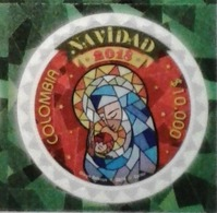 Colombia 2018 ** Navidad. Vitral: Virgen Y Niño Jesús. Christmas. Stained Glass Window Of The Virgin And The Child Jesus - Colombia