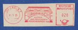 BRD AFS - KÖLN, Europäische Güter- Und Reisegepäck- Versicherungs AG 1955 - Trains