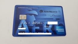 MEXICO - CREDIT CARD - AMERICAN EXPRESS - AEROMEXICO AIRLINE  - RARE  - FOR COLLECTION - Geldkarten (Ablauf Min. 10 Jahre)