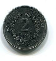 1983 Costa Rica 2 Colones Coin - Costa Rica