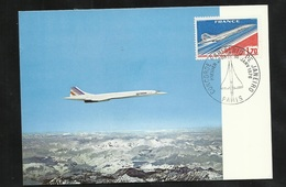 FDC  France Carte Maximum Premier Jour Paris Le 10/01/1976 Du Poste Aérienne  N°49 Concorde  Vol Paris Rio    TB - Concorde