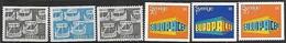 Sweden  1969  Nordic Cooperation & Europa Sets  MNH  2016 Soctt Value $5.40 - Sweden