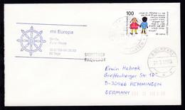 DEUTSCHE SCHIFFSPOST Ms Europa Hapag-Lloyd KREUZFAHRTEN 20.7.93 +  - Deutschland