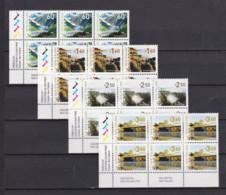 New Zealand 2014 Definitives - Landscapes Set Of 4 Control Blocks MNH - New Zealand