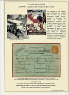 Aout 1940 -l'expulsion Des Alsaciens -  Carte D'un Réfugié De Strasbourg Du 4 Août 40; - Postmark Collection (Covers)