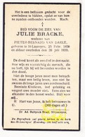DP Julie Bracke ° St.-Laureins 1858 † 1930 X Pieter B. Van Daele - Images Religieuses