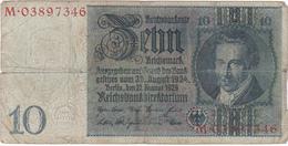Allemagne - Billet De 10 Reichsmark - A.D. Thaer - 22 Janvier 1929 - [ 3] 1918-1933 : République De Weimar