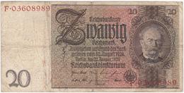 Allemagne - Billet De 20 Mark - 22 Janvier 1929 - Werner Von Siemens - [ 3] 1918-1933 : République De Weimar