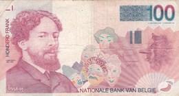 Belgique - Billet De 100 Francs - James Ensor - Non Daté - [ 2] 1831-... : Regno Del Belgio