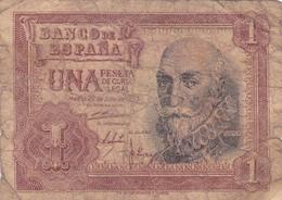 Espagne - Billet De 1 Peseta - 22 Juillet 1953 - Marques De Santa Cruz - [ 3] 1936-1975 : Régence De Franco