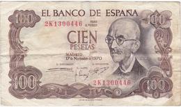 Espagne - Billet De 100 Pesetas - Manuel De Falla - 17 Novembre 1970 - [ 3] 1936-1975 : Régence De Franco