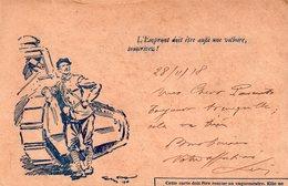 Correspondance Des Armées De La République, Illustrée Soldat Appuyé Sur La Chenille De Son Char, Peu Courante - Guerra 1914-18