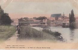 5762 GUITRES                             Le Pont Et L Eglise Notre Dame                      Timbree - France