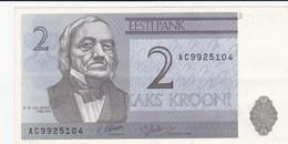 Estonie - Billet De 2 Krooni - K. E. Von Baer - 1992 - Estland
