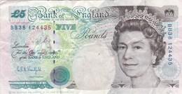 Grande-Bretagne - Billet De 5 Pounds - Elizabeth II & George Stephenson - 1952-… : Elizabeth II