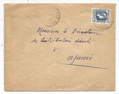 N° 639 SEUL LETTRE OBLITERATION ??LLANO CORSE 1944 POUR AJACCIO - 1944 Coq Et Marianne D'Alger